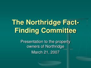 The Northridge Fact-Finding Committee