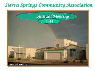 Sierra Springs Community Association