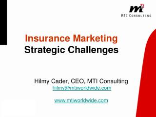 Insurance Marketing  Strategic Challenges
