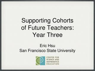 Eric Hsu San Francisco State University