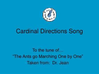 Cardinal Directions Song