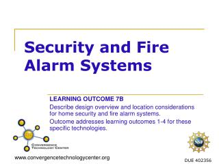 Security and Fire Alarm Systems