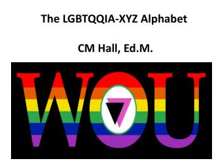 The LGBTQQIA-XYZ Alphabet  CM Hall, Ed.M.