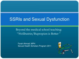 SSRIs and Sexual Dysfunction