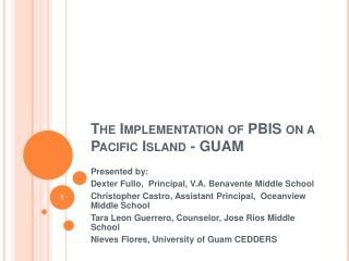 The Implementation of PBIS on a Pacific Island - GUAM