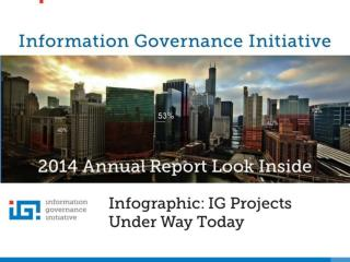Information Governance Initiative IG Projects Under Way Today