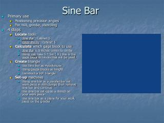 Sine Bar