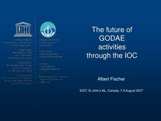 The future of GODAE activities through the IOC