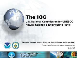 The IOC U.S. National Commission for UNESCO Natural Science & Engineering Panel