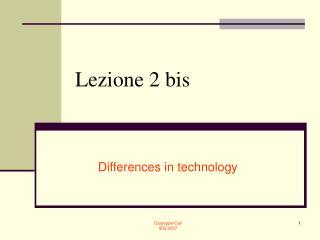 Lezione 2 bis
