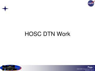 HOSC DTN Work