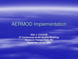AERMOD Implementation