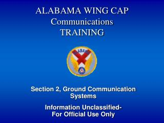 ALABAMA WING CAP  Communications TRAINING
