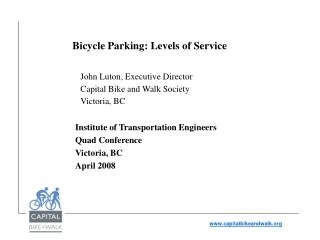 Bicycle Parking: Levels of Service