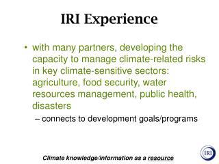 IRI Experience