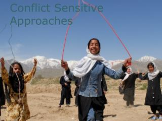 Conflict Sensitive Approaches