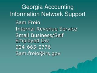 Georgia Accounting Information Network Support