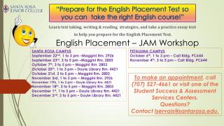 Learn test taking, writing & reading   s trategies, and take a practice essay test