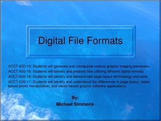 Digital File Formats