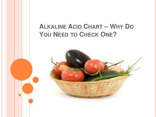 Alkaline Acid Chart