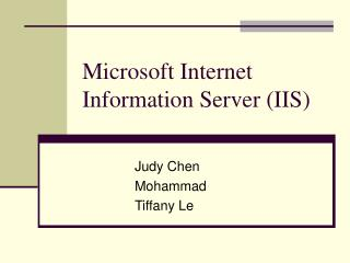 Microsoft Internet Information Server (IIS)
