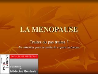 LA MENOPAUSE
