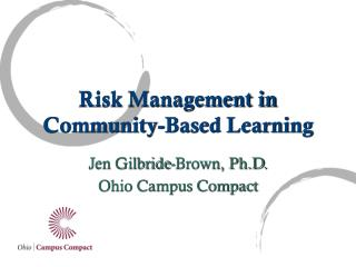 Risk Management in Community-Based Learning