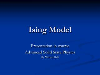 Ising Model