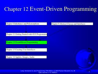 Chapter 12  Event-Driven Programming