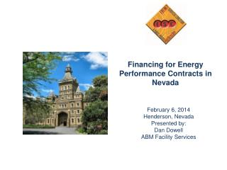 Financing for Energy Performance Contracts in Nevada