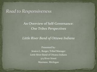 Road to Responsiveness