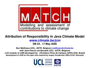 Attribution of Responsibility in Java Climate Model climate.be/jcm SB-24 , 17 May 2006