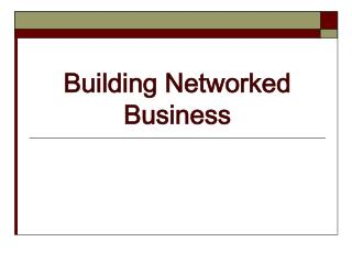 Building Networked Business