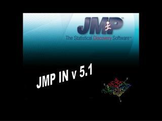 JMP IN v 5.1