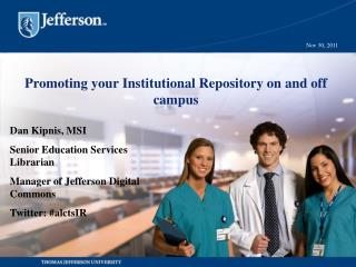 Promoting your Institutional Repository on and off campus
