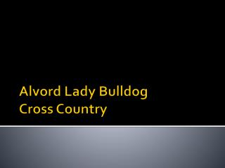 Alvord Lady Bulldog             Cross Country