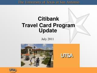 Citibank  Travel Card Program Update
