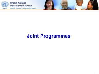 Joint Programmes