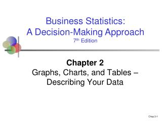Chapter 2 Graphs, Charts, and Tables – Describing Your Data