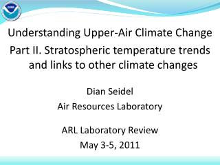 Understanding Upper-Air Climate Change