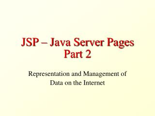 JSP – Java Server Pages Part 2