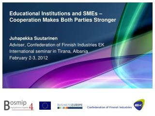 Educational Institutions and SMEs –  Cooperation Makes Both Parties Stronger