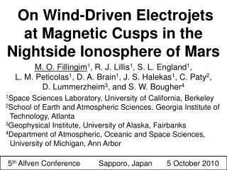On Wind-Driven Electrojets at Magnetic Cusps in the Nightside Ionosphere of Mars