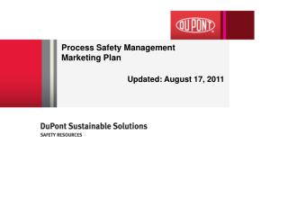 Process Safety Management  Marketing Plan