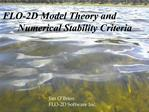FLO-2D Model Theory and   Numerical Stability Criteria