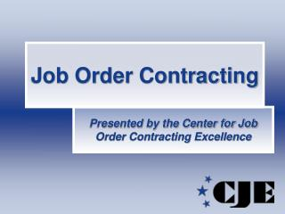 Job Order Contracting
