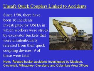 Unsafe Quick Couplers Linked to Accidents