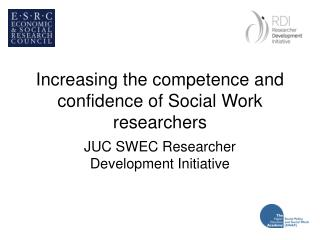 Increasing the competence and confidence of Social Work researchers