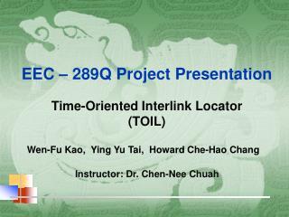 EEC – 289Q Project Presentation
