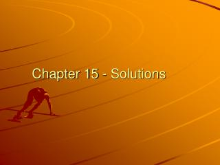 Chapter 15 - Solutions